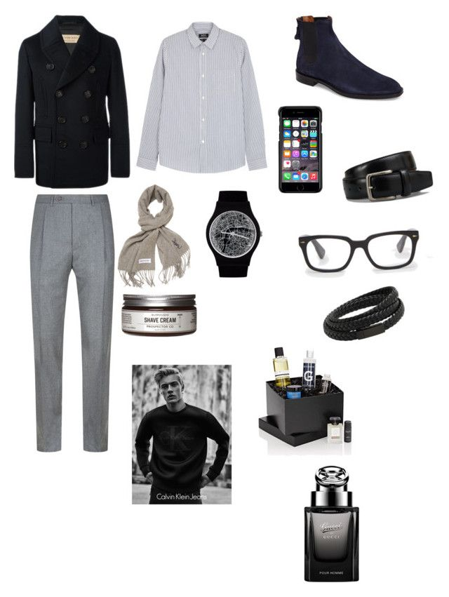 """""""Sin título #269"""" by carolinaramirez-1 on Polyvore featuring Calvin Klein, Burberry, Canali, A.P.C., Givenchy, County Of Milan, Tod's, Yves Saint Laurent, Ted Baker y MANGO MAN"""