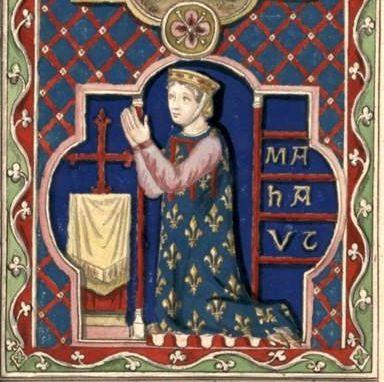 Mahaut de Boulogne (Gaignières 90) -- Dessin d'un vitrail de N.-D. de Chartres [BNF Bouchot, 90] -- «Mahaut comtesse de Bologne & de Dammartin fille unique & heritiere de Renaut comte de Dammartin, & d'Ide Comtesse de Bologne, accordée en Aoust 1201, mariée en 1206 a Philipes comte de Clermont. Elle fit hommage au Roy l'an 1233 du Comté de Bologne…, elle se remaria l'an 1235 avec Alfonse depuis Roy de Portugal 3e du nom qui la repudia. Elle mourut avant l'an 1258.»