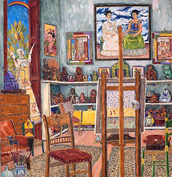 FRIDA KAHLO'S STUDIO (Coyoacan, 1941)