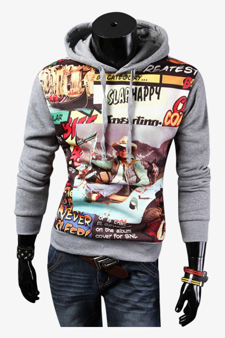 G.E. Smith Hoodied Sweatshirt In Gray