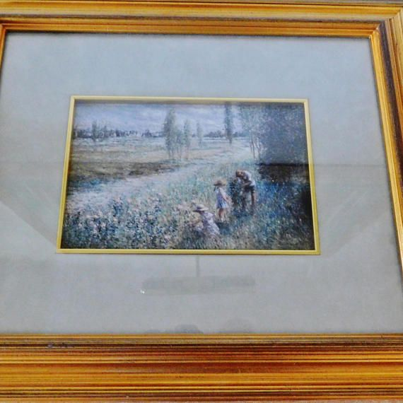 Contemporary Pastel Print by American Realism Artist L. Lew