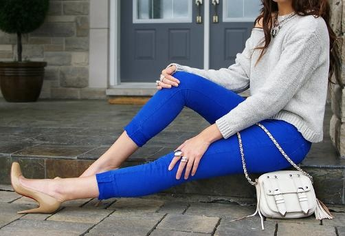 Electric Blue Pants
