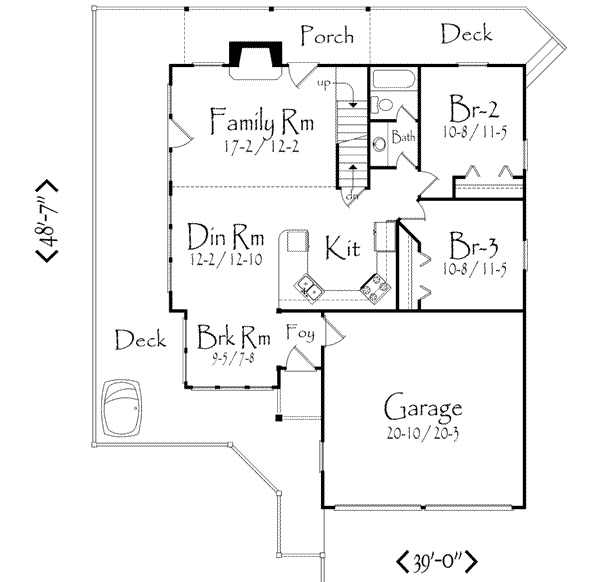 Open house plan by far my favourite and perfect size for Traditional open floor plans