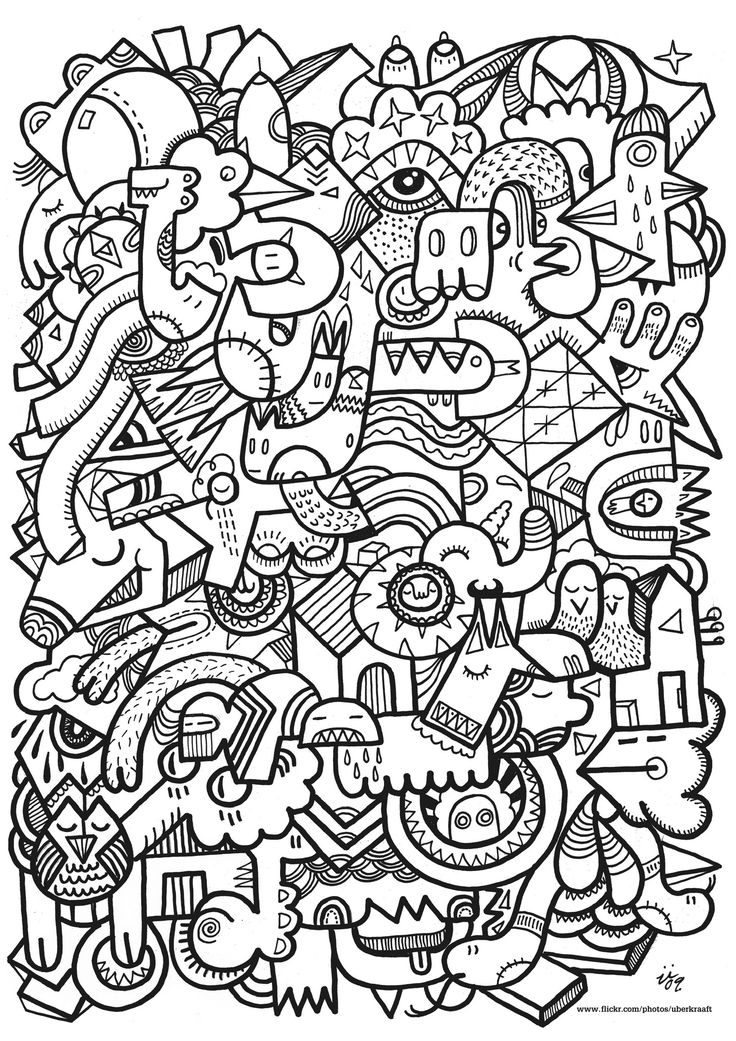 Free coloring page «coloring-complex». A real work of art! Superb design very inspired ... complex level