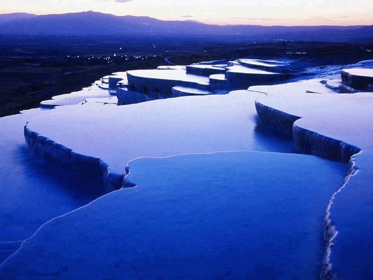 Blue Hour, Natural Infinity Pool - Pamukkale, Denizli, Turkey | See More Pictures | #SeeMorePictures