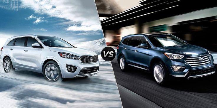 Two Brothers Comparison - 2017 Hyundai Santa Fe vs. KIA Sorento - https://carsintrend.com/2017-hyundai-santa-fe-vs-kia-sorento/