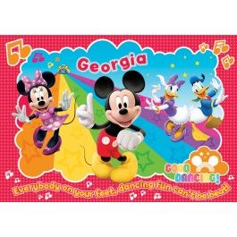 Make mealtime fun and keep your table free from scratches, spills and crumbs with this colourful Mickey Mouse Clubhouse Personalised Placemat.