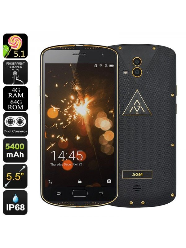 AGM X1 Rugged Smartphone (Gold)