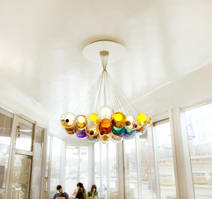 Art Studio Light, Bocci 28 glass ball pendant lamp crystal chandelier of