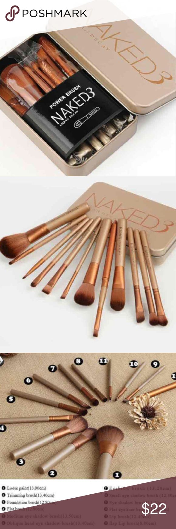 12pcs naked professional makeup brushes set 100% BRAND NEW Never been used  Sold Out on Website I always do my packages with bubbles wraps and best secure as possible  FAST SHIPPING Makeup Brushes & Tools