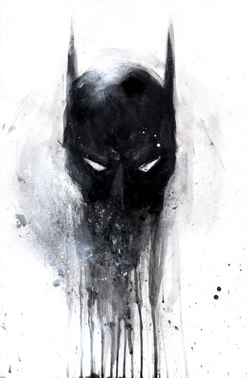 Mask of The Dark Knight @Lisa Phillips-Barton. Simms Furuya A Black  baby, u should try and paint this