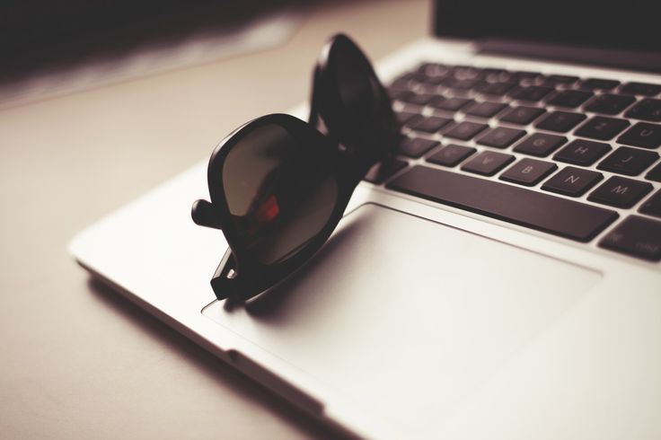 Free image: Style Sunglasses with MacBook