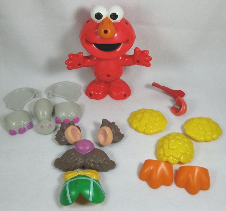 Fisher Price Silly Parts Talking Elmo Mr. Potato Head 2003 #Mattel
