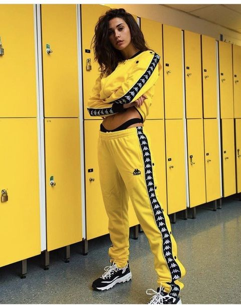 777d16bf7137 jumpsuit black and yellow shirt black yellow black and yellow pants black  and yellow kappa