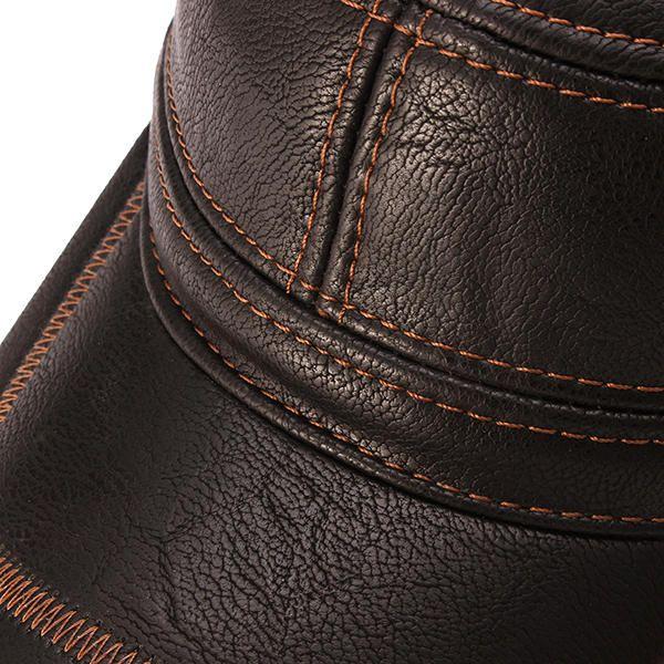 Unisex PU Leather Earflap Ear Muffs Baseball Cap Adjustable Plush Lining Golf Windproof Outdoor Hat - Banggood Mobile