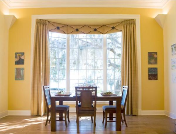 luminous color with window treatments for kitchen bay window and casual wall decor and elegant curtain - Kitchen Bay Window Ideas