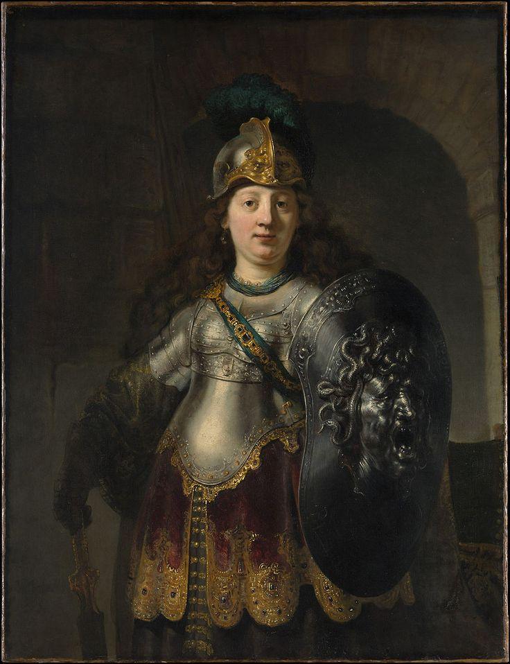 Bellona - Rembrandt van Rijn.  1633.  Oil on canvas.  127 x 97.5 cm.  Metropolitan Museum of Art, New York City NY, USA.