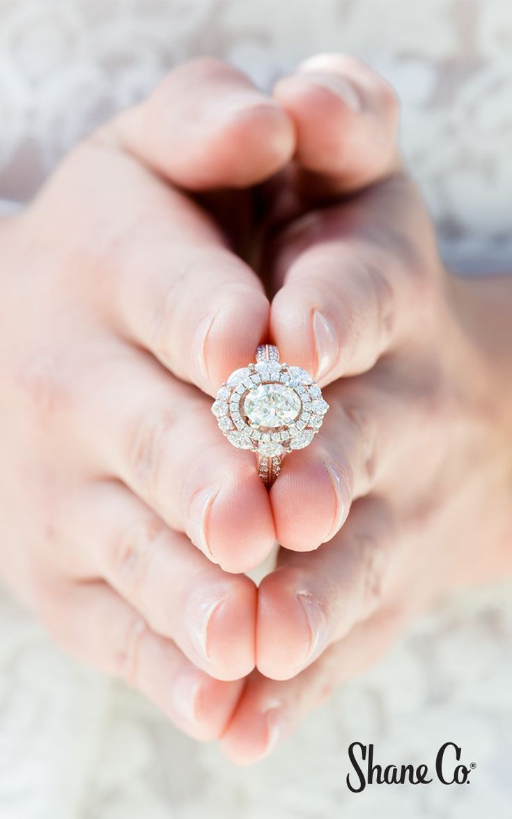 Engagement Rings : Vintage Diamond Double Halo Engagement Ring ...