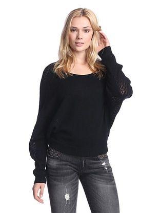 61% OFF Quinn Women's Cristiana Dolman Cashmere Sweater (Black)