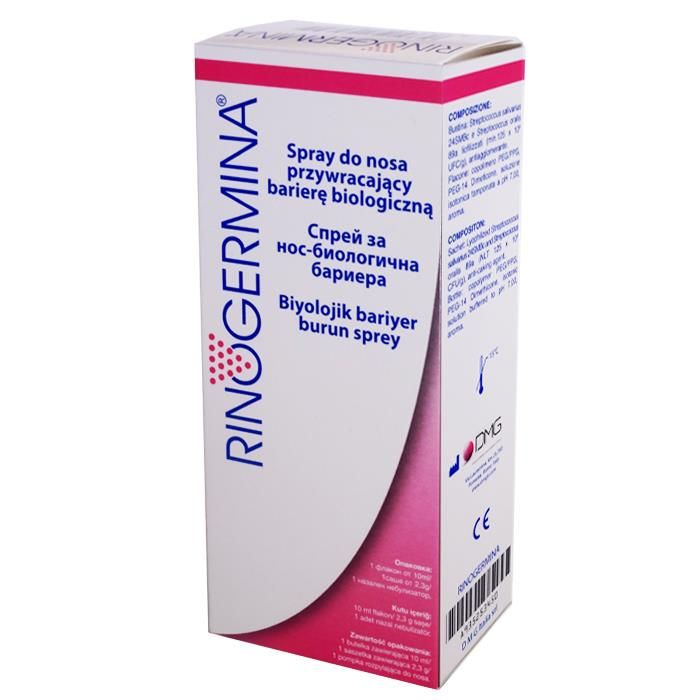 Rinogermina Spray 10ml - od 18,87 zł, porównanie cen w 24 sklepach. Zobacz inne Przeziębienie i grypa, najtańsze i najlepsze oferty, opinie.