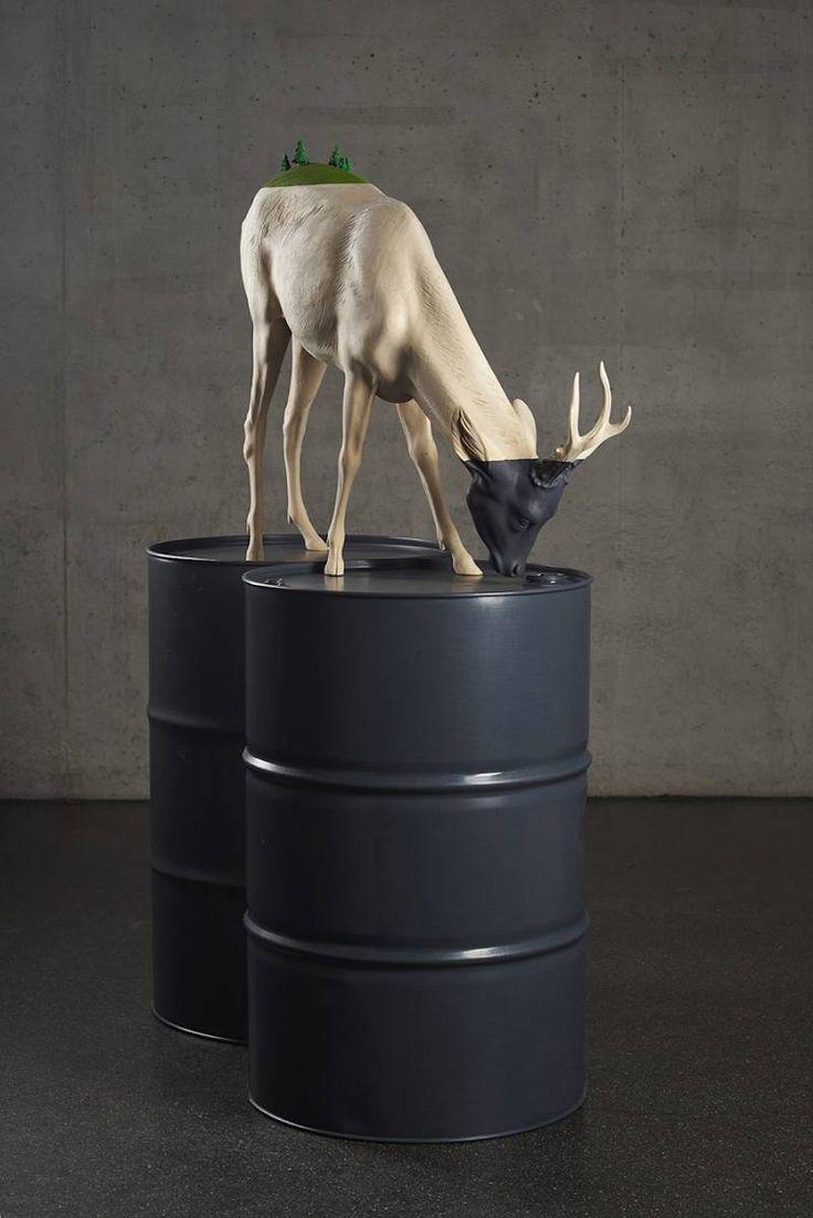 Les Sculptures en bois de Willy Verginer soulignent la Dégradation environnementale (5)