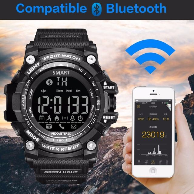 Promotion price GIMTO Brand Sport Watch Men Digital Smart Watch Bluetooth Running Pedometer Chronograph Waterprool LED Military Stopwatch Clock just only $18.36 with free shipping worldwide  #menwatches Plese click on picture to see our special price for you