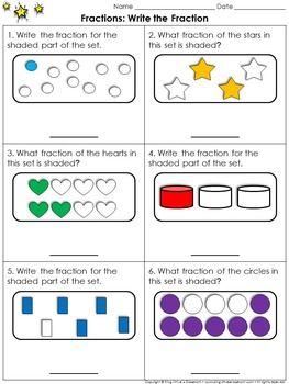 fractions of a set worksheets grade 4 find a fraction of