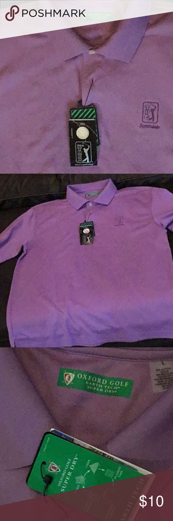 TPC Scottsdale golf shirt Men's sz large never worn. Perfect for the upcoming Waste Management Phoenix open in Feb.  NWT oxford golf Shirts Polos