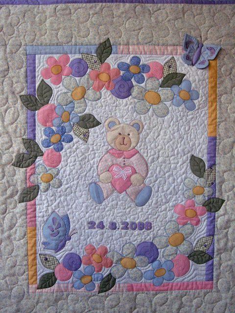 De Ulla Quilt Mundo: manta de bebe acolchado