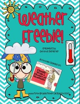 Weather-themed reproducibles and a super fun writing activity based on the book Cloudy With a Chance of Meatballs.