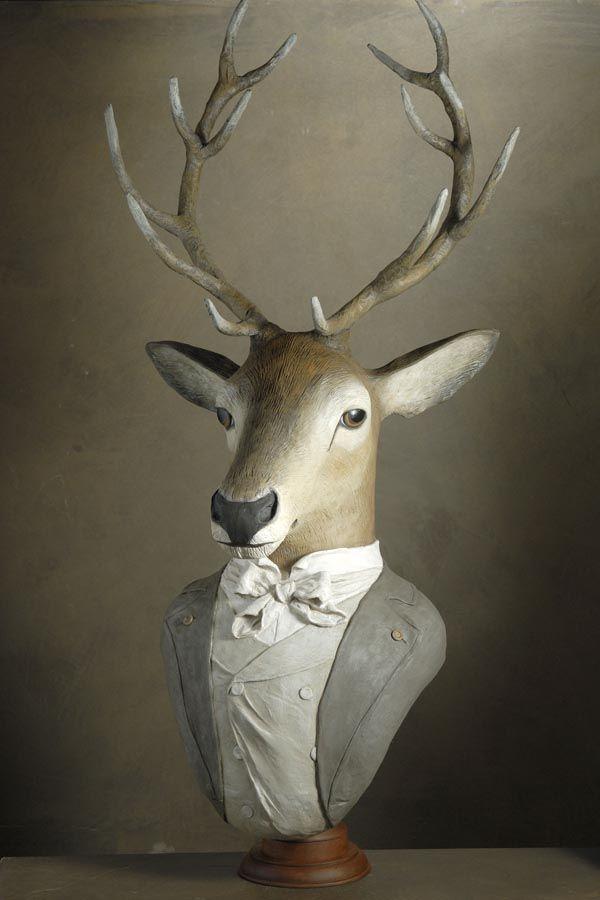 buste de cerf | Retour Autres animaux habillés Les chiens Les médaillons