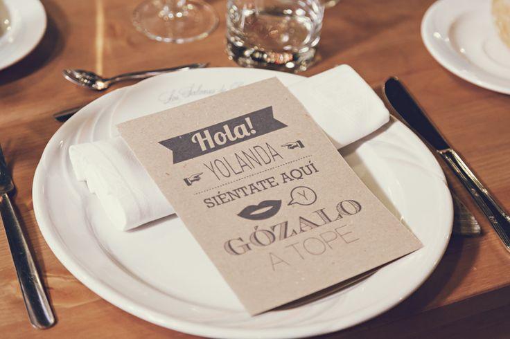 Tarjeta agradecimiento · Antigüeding · 3 deses y medio #bodas #papeleria #wedding #stationery #madeinspain