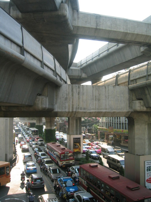 Traffic jam, Bangkok, 2008