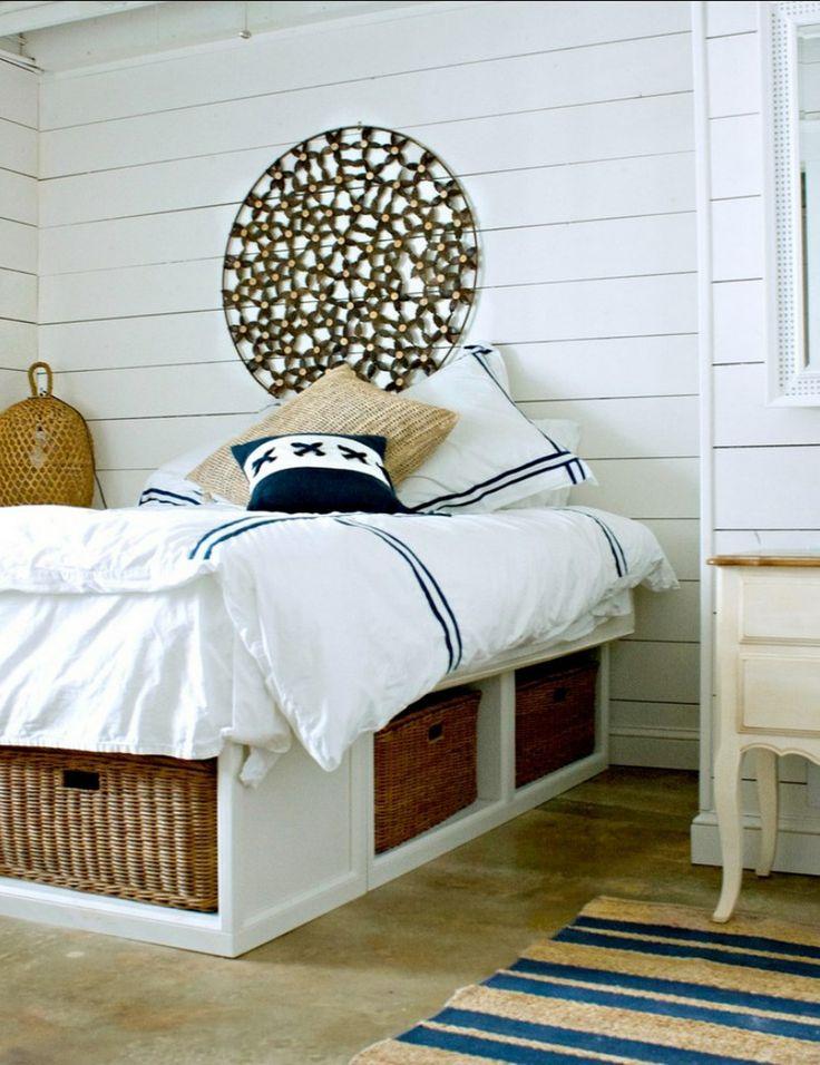 Chambre de bord de mer home d co style bord de mer for Deco chambre adulte bord de mer
