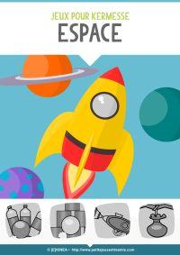 Jeu de kermesse à imprimer : Espace (vue)