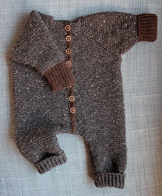 "Baby's ""long jons"" wool suit"