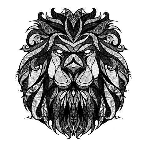 lion, I wonder if I could trace/paint him :): Tattoo Ideas, Inspiration, Tattoos, Illustration, Art Prints, Lion Tattoo, Zodiac Leo, Design