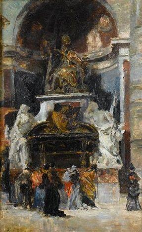 Interior de la Basilica de San Pedro monumento al Papa Urbano VIII Vaticano by FranciscoPradilla y Ortiz