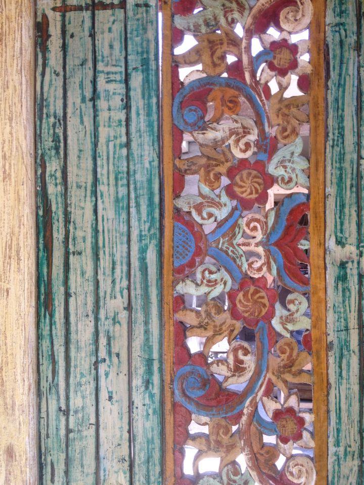 Temple lodge reclaimed Wood Bali door