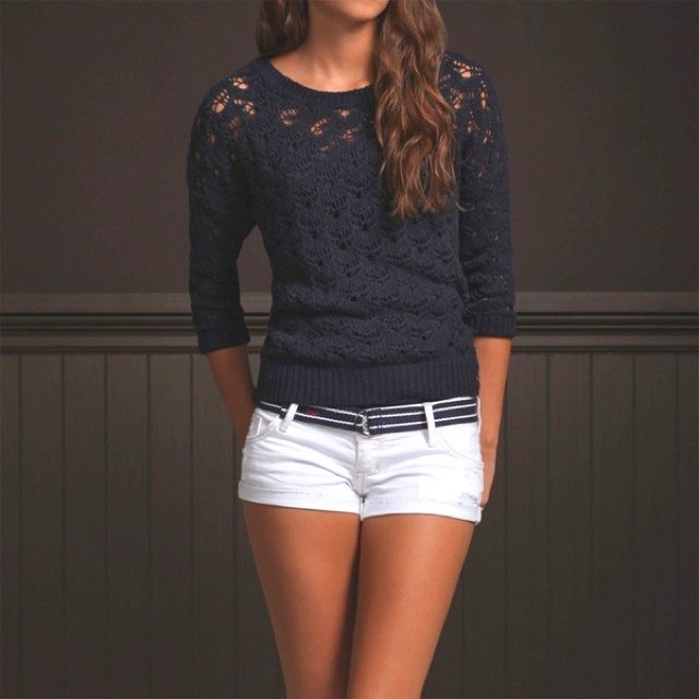 Hollister Outfit...really cute. and white shorts make you look really tan. good for late spring and summer!