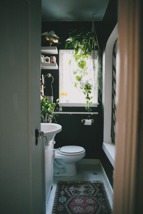 Paint a small bathroom a dark color