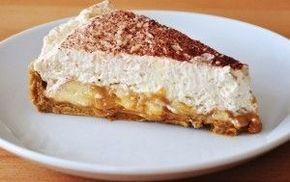 banoffee-taart met karamel biscuitjes bodem (gecondenseerde melk)