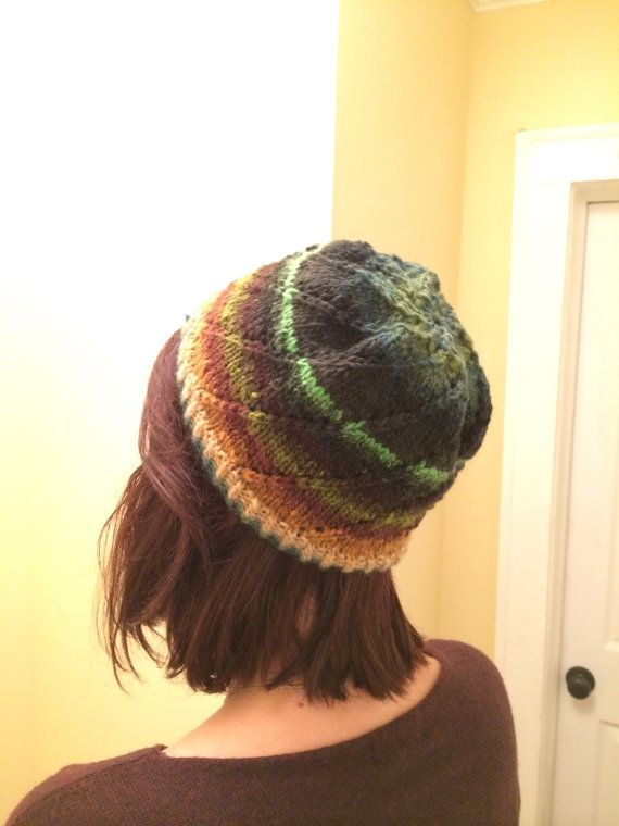 Green Noro Beanie  by KnittedWool on Etsy $38