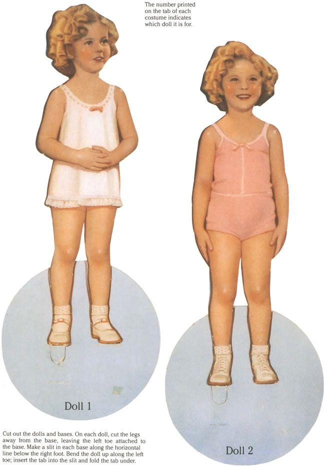 original shirley temple paper dolls -- a dover book.
