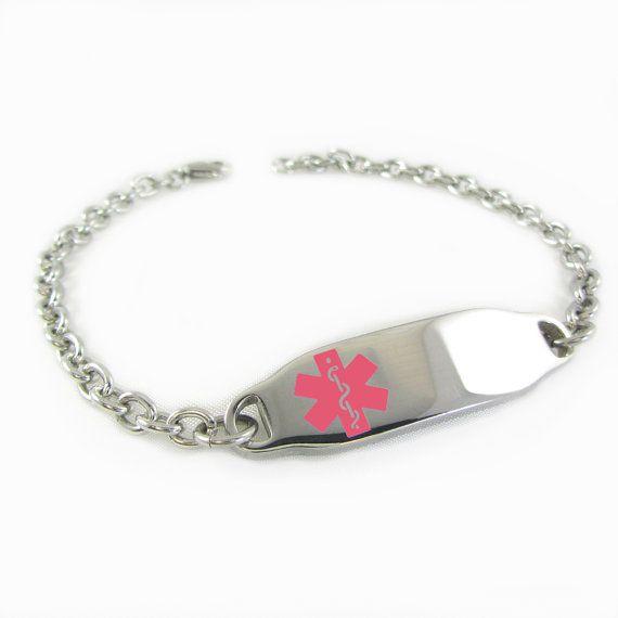 Bracelet d'identification médicale en acier pour enfant