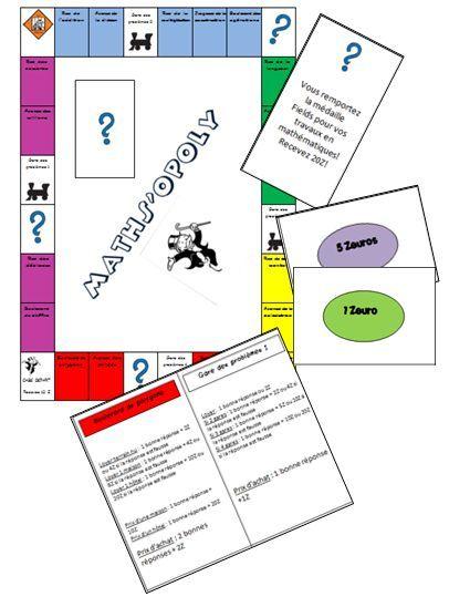 Le Maths'opoly - Jeu de monopoly pour réviser les mathématiques