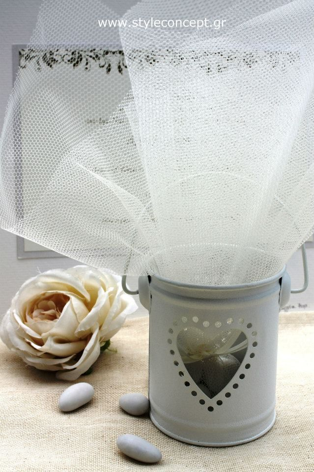 Love this candle holder favor with the heart window!