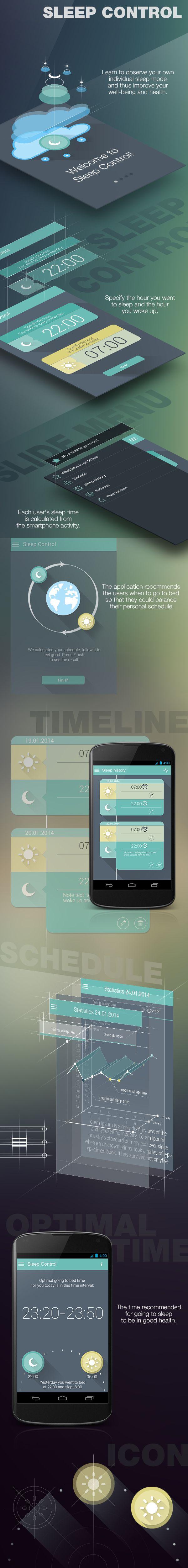 Sleep Control by Tubik Manufactory , via Behance