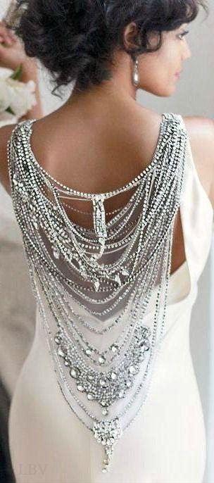 Silk column with Swarovski crystals and beads by Johanna Johnson. | LBV ♥✤