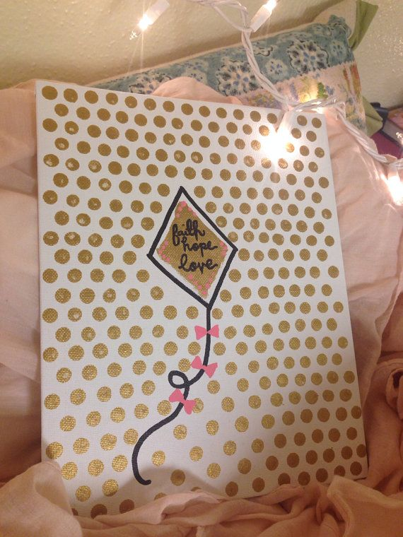 Kappa Alpha Theta canvas craft!  submitted by: elleritinlove